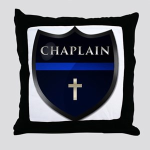 Police Chaplain Shield Throw Pillow