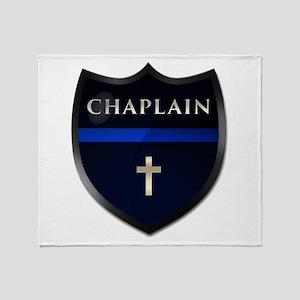 Police Chaplain Shield Throw Blanket