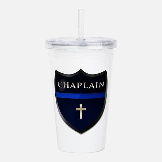 Police Chaplain Shield Acrylic Double-Wall Tumbler