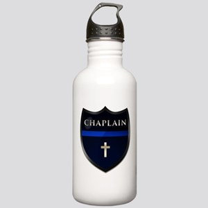 Police Chaplain Shield Stainless Water Bottle 1.0l
