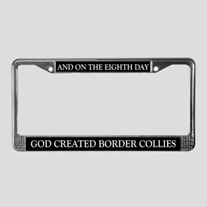 8TH DAY Border Collie License Plate Frame