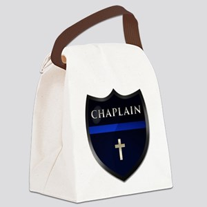 Police Chaplain Shield Canvas Lunch Bag