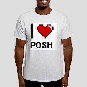 I Love Posh Digital Design T-Shirt