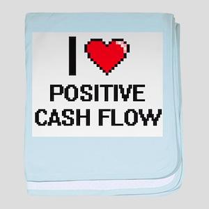 I love Positive Cash Flow Digital Des baby blanket