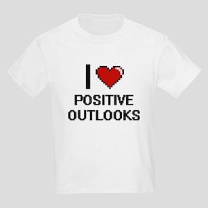 I Love Positive Outlooks Digital Design T-Shirt
