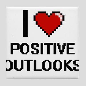 I Love Positive Outlooks Digital Desi Tile Coaster