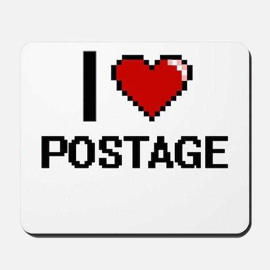 I Love Postage Digital Design Mousepad