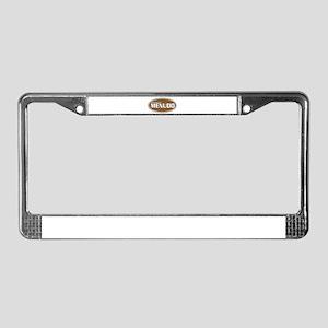 Powered By Menudo License Plate Frame
