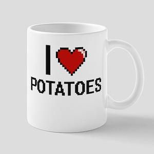 I Love Potatoes Digital Design Mugs