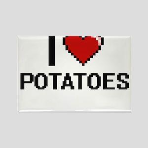 I Love Potatoes Digital Design Magnets