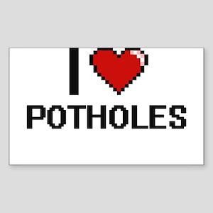 I Love Potholes Digital Design Sticker
