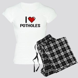I Love Potholes Digital Des Women's Light Pajamas