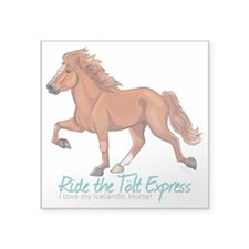 Icelandic Horse Tolt, Chestnut Sticker