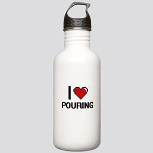 I Love Pouring Digital Stainless Water Bottle 1.0L