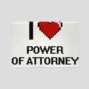 I Love Power Of Attorney Digital Design Magnets