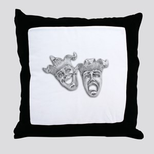 Comedy and Tragedy Theater Throw Pillow
