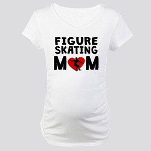 Figure Skating Mom Maternity T-Shirt