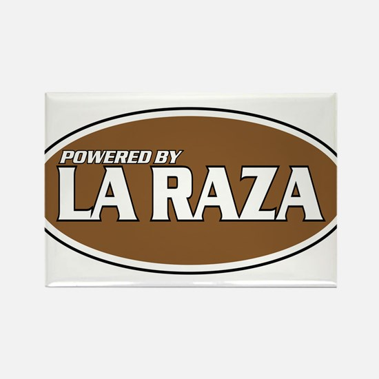 Powered By La Raza Rectangle Magnet