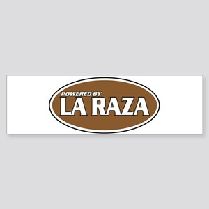 Powered By La Raza Bumper Sticker