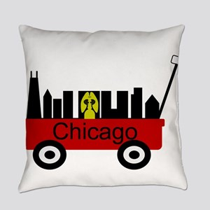 Chicago Red Wagon Everyday Pillow
