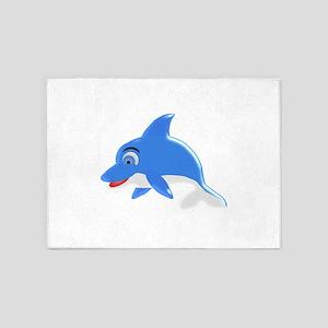 Blue Dolphin 5'x7'Area Rug