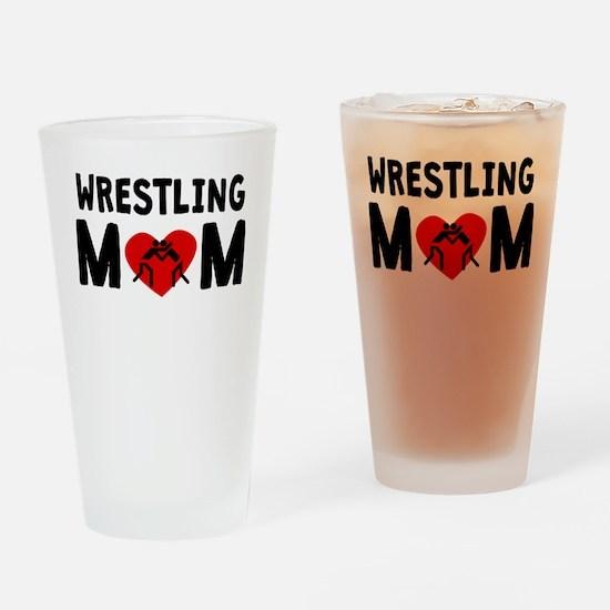 Wrestling Mom Drinking Glass