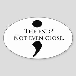 Semicolon Unfinished Sticker