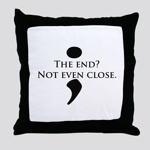 Semicolon Unfinished Throw Pillow