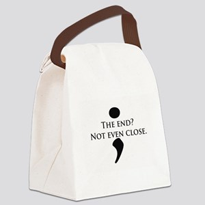 Semicolon Unfinished Canvas Lunch Bag