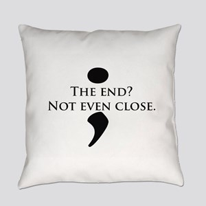 Semicolon Unfinished Everyday Pillow