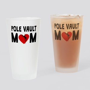 Pole Vault Mom Drinking Glass