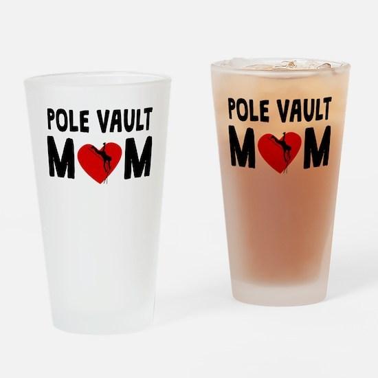 Pole Vault Mom Drinking Glass
