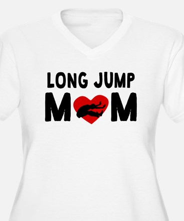 Long Jump Mom Plus Size T-Shirt