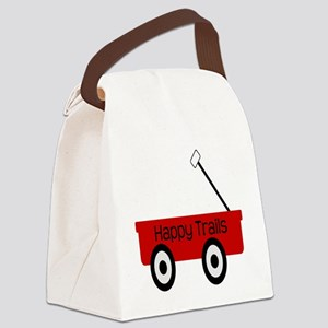Happy Trails Red Wagon Canvas Lunch Bag