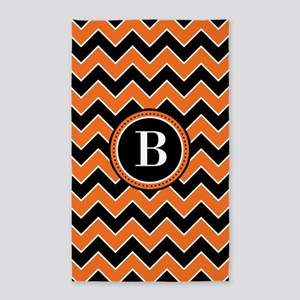 MONOGRAM Halloween Chevron Area Rug
