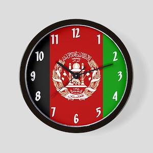 Flag of Afghanistan Wall Clock