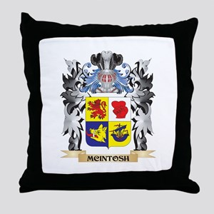 Mcintosh Coat of Arms - Family Crest Throw Pillow