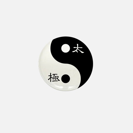 Tai Chi Yin Yang Symbol Mini Button