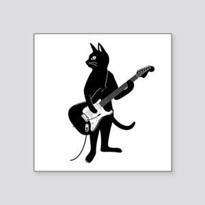 Cat Playing The Electric Guitar Sticker