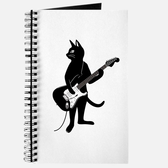 Cat Playing The Electric Guitar Journal