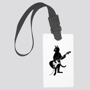 Cat Playing The Electric Guitar Luggage Tag
