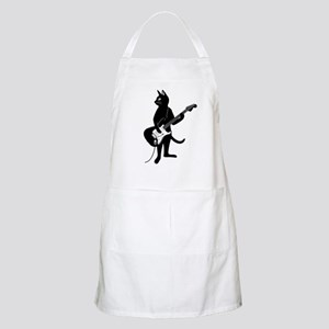 Cat Playing The Electric Guitar Apron