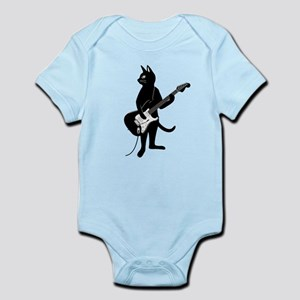 Cat Playing The Electric Guitar Body Suit