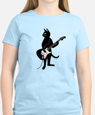 Cat Playing The Electric Guitar T-Shirt