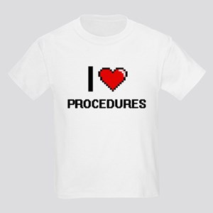 I Love Procedures Digital Design T-Shirt