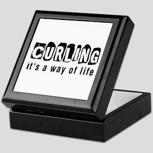 Curling it is a way of life Keepsake Box
