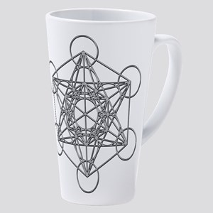 Metatrons Cube 17 Oz Latte Mug