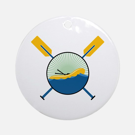 Rafting Logo Round Ornament