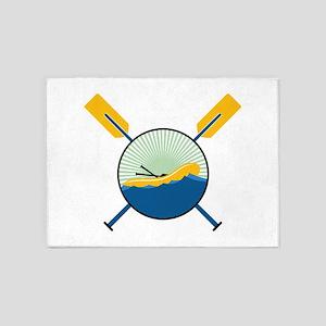 Rafting Logo 5'x7'Area Rug