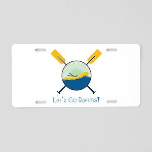 Go Rafting Aluminum License Plate